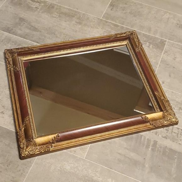 Vintage Wall Art Filgarie Maroon Gold Mirror Poshmark